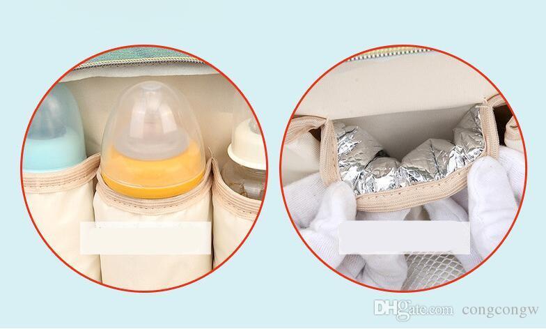 3 Renk Çok Fonksiyonlu Anne Sırt Bezleri Çanta Bezi Çanta Sırt Çantası Analık Büyük Kapasiteli Açık Seyahat Çantaları BG02 3 ADET