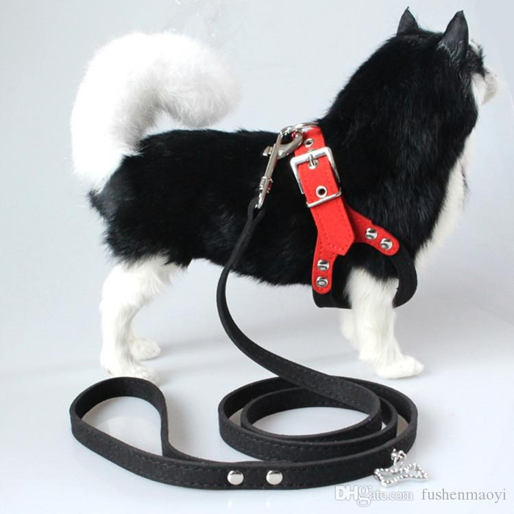 New Style Pet Supplies Velvet Brille Form Hundegeschirr Small Medium Hundegeschirr Halsband mit Leine HP028