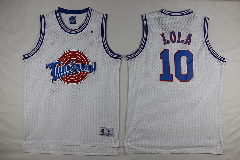 Lola Bunny Space Jam TuneSquad Jersey Double Stiched  10 Vintage 90s  Basketball Jerseys IN STOCK Black White UK 2019 From Felixtrade b73ac7073