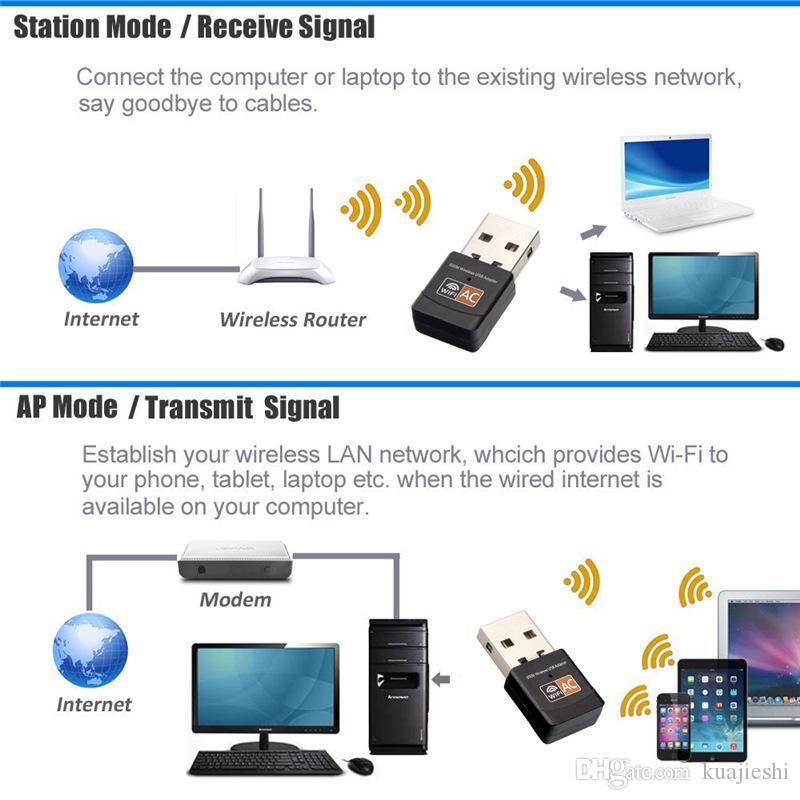 Портативный адаптер приемника сигнала WiFi