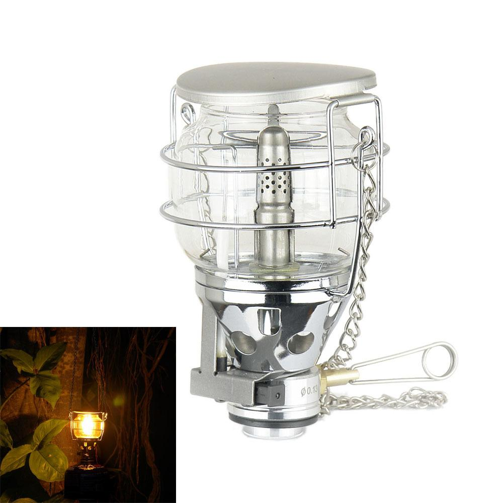 Camping & Hiking Bright 1 Pcs Hot Sale Mini Portable Camping Lantern Gas Light Tent Lamp Torch Hanging Glass Lamp Travel Gas Stove 2018 Newest Choice Materials