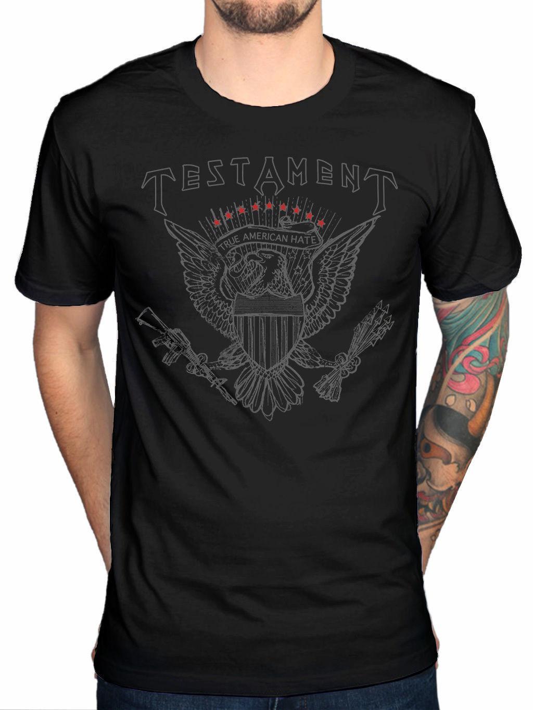 77994a62 Official Testament True American Hate T Shirt Thrash Metal Band Rock Fan  Merch Hip Hop Men Tshirt Rock Unisex T Shirt Fashion Tops Cool The Who T  Shirt T ...