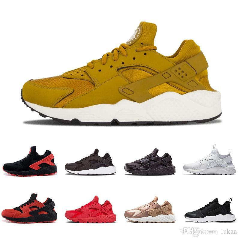 3746b89ac71 2019 New Gold Airs Huarache 4.0 IV 1.0 Ultra Running Shoes 4 Classical Run  Triple White Black Rose Red Huaraches Zapatos Sport Sneakers Waterproof  Running ...
