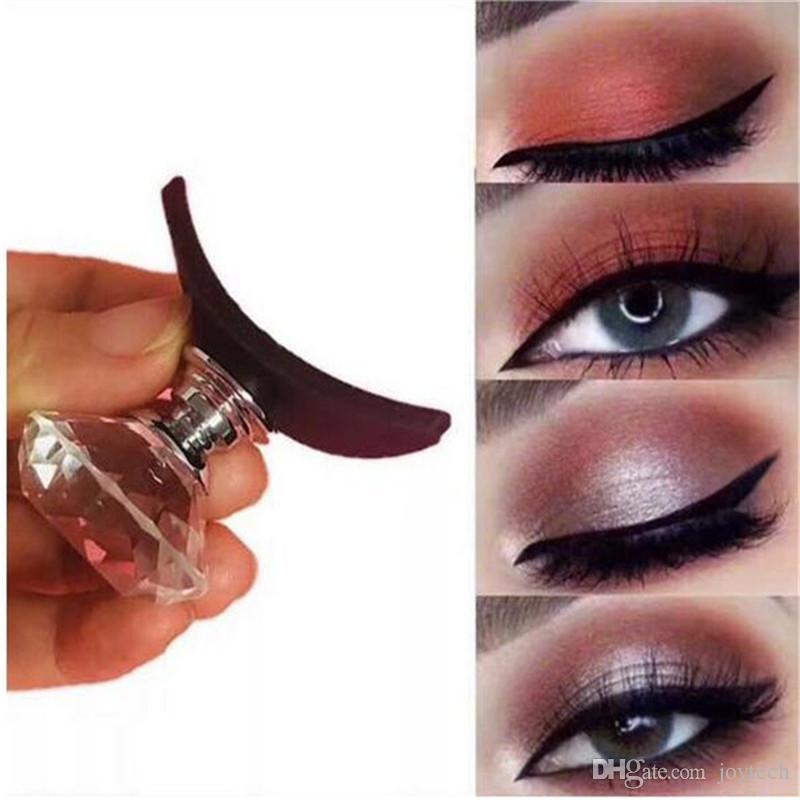 Çok iyi Makyaj Araçları Kristal Tembel Silikon Göz Farı Damga Kırışık Göz Farı Aplikatör Stamper DHL
