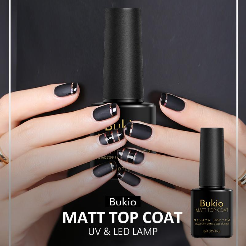 162e831b6d2 Bukio Matte Top Coat Professional Nail Art Water Based No Acid Surface  Magic Top Coat Nail Gel Polish Soak Off Uv Gel Lacquer Nail Gels Uv Nail Gel  From ...