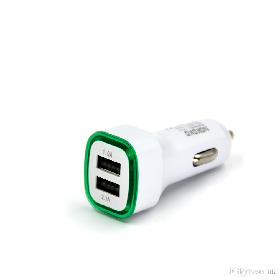 5V 2.1A Dual USB Порты Led Light Автомобильное зарядное устройство Адаптер Универсальный Charing для Iphone Samsung HTC Huawei Xiaomi