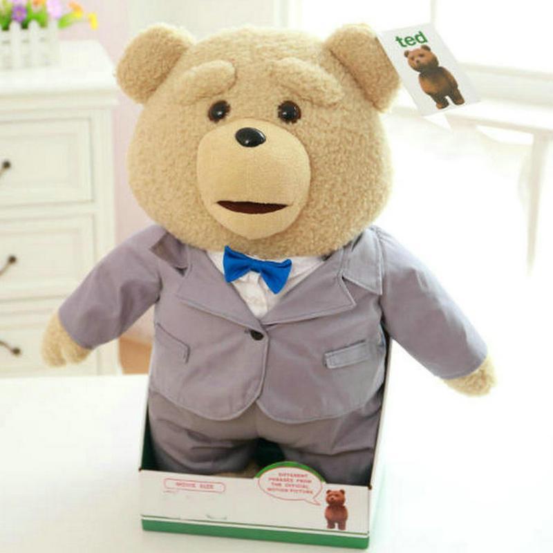 Compre 40 Cm Plush Urso De Pelúcia Ted Filme Action Figure Teddy Boneca  Brinquedos Falando Palavras Sujas Ted Gravação Urso Brinquedos De  Paradise13 c3043332c1de