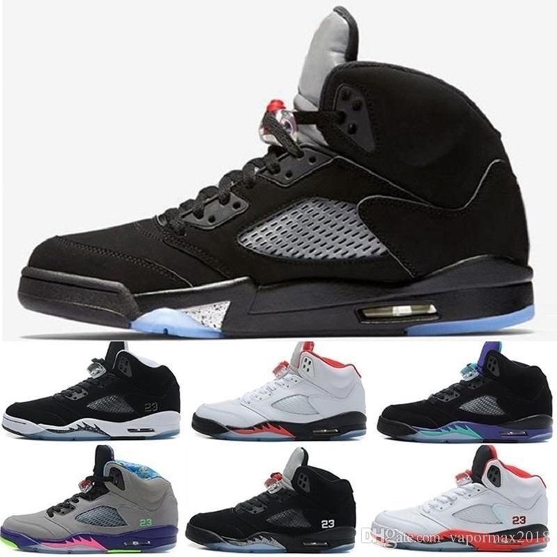 san francisco 611f0 b2934 Compre Nike Air Jordan Jordans Retro Basketball Shoes 5 Alta Calidad 5 5 S  XII Octubre Drake Blanco Negro Atletismo Zapatillas Mujeres Para Hombre ...