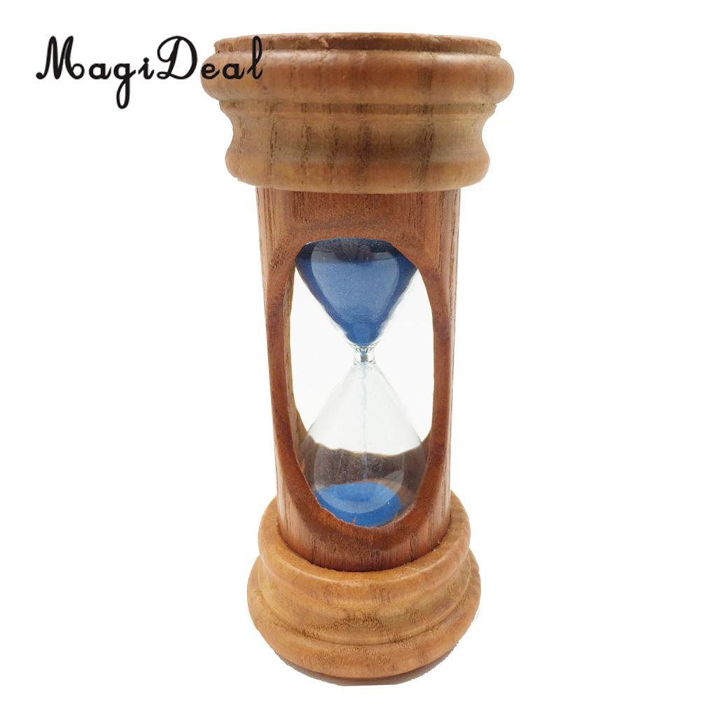 30 Minute Wooden Frame Rotating Hourglass Sandglass Sand Timer For Kitchen School Home Office Desk Decoration Hourglasses