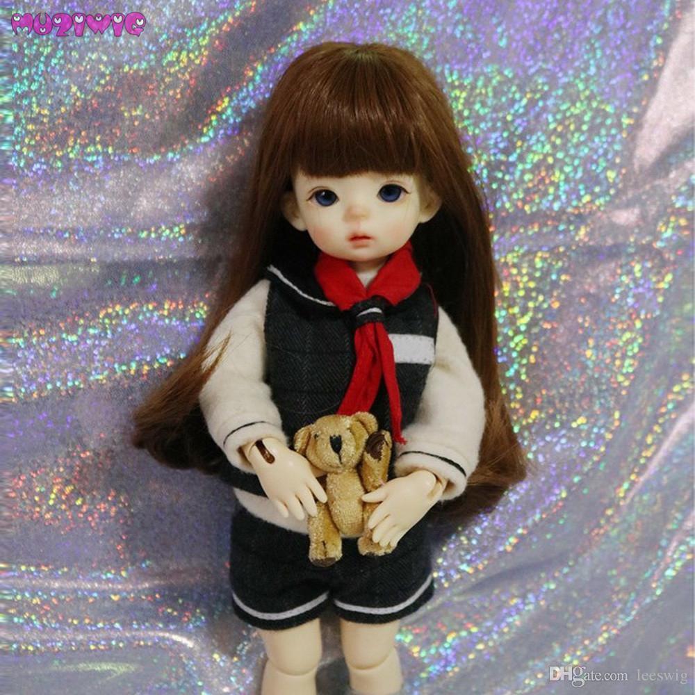 Wholesale Muziwig Baby Doll Wigs For 1 3 1 4 1 6 Bjd Dolls Straight