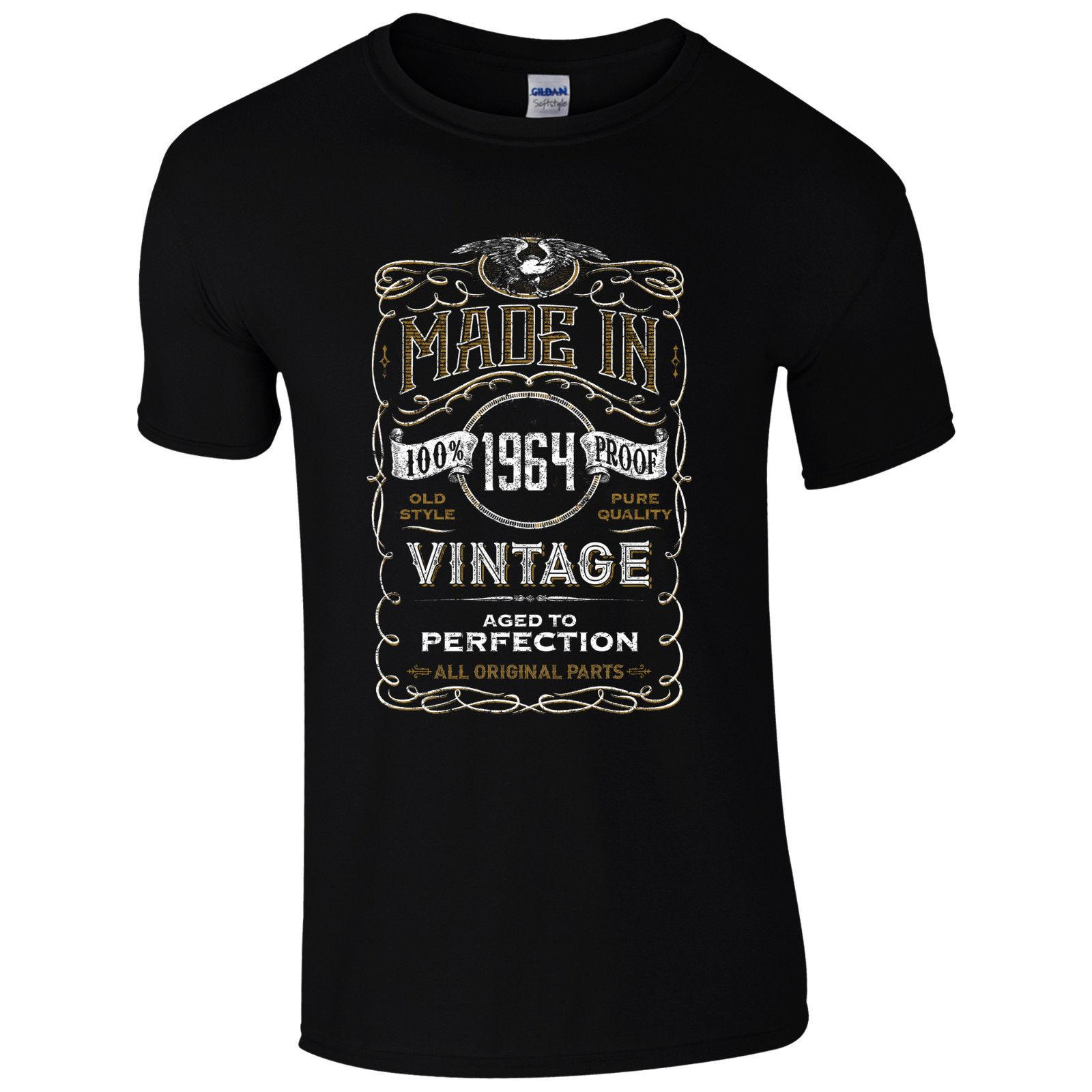 Made In 1964 T Shirt Born 54th Year Birthday Age Present Vintage Funny Mens Gift Cool Casual Pride Men Unisex New Fashion Tshirt Slogan