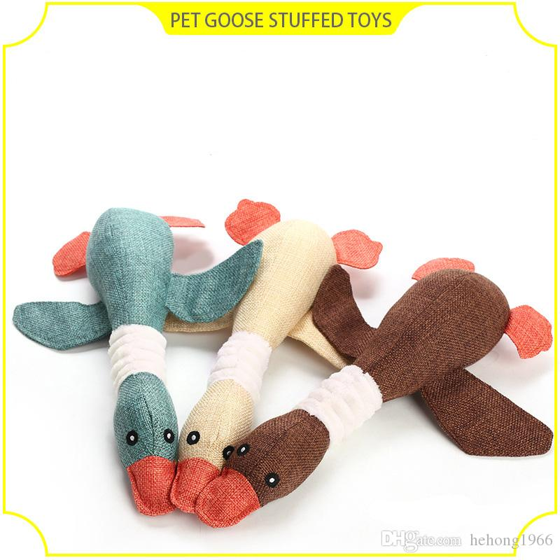 Bite Sounding Wild Goose Design Dog Teethers For Puppy Teeth Healthy Care Toys Pet Chew Molar Theething Props 9zj Z