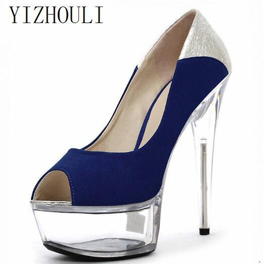 2018 Silver Glitter Platform High Heel Pumps Women Glitter Sexy Wedding  Shoes Crystal Shoes Party Dress Shoes 15cm Strappy Heels Geox Shoes From  Liuyangbag a387f3d363