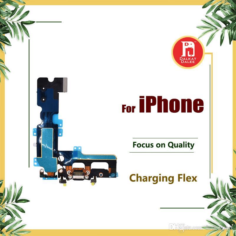 Dock Bağlayıcı USB Şarj Portu Kulaklık Ses Jack Mic Anten Flex iPhone 5 5 s 5c SE 6 6 s 7 8 Artı X
