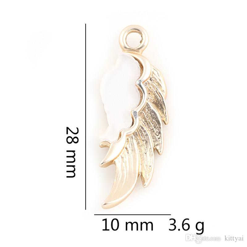 28*10mm Silver Gold Wing Charm Pendant for Bracelet Necklace Jewelry Accessories Making Handmade DIY