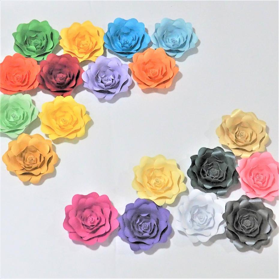 Of 19 Giant Paper Flowers For Showcase Wedding Backdrops Decor Props