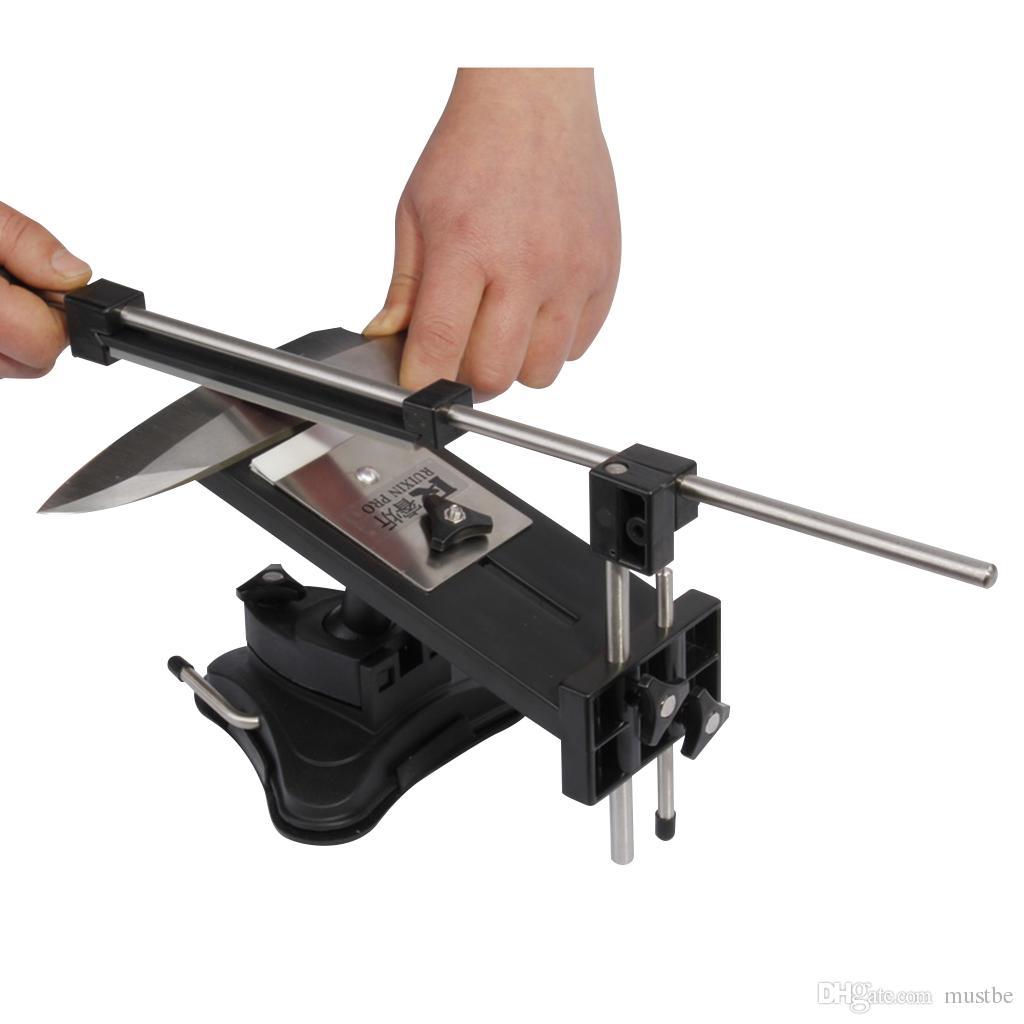 Melhor Promoção Pro II Atualizado Chefs Profissional Melhor Afiação De Cozinha Faca Sharpener Sistema Fix-ângulo 4 whetstones