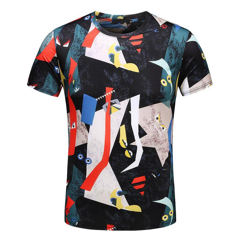 vente chaude en ligne 5c8d0 351de Nouvelle édition T-shirts Impression numérique T-shirt Design Imprimer  T-shirts Casual Pull Qualité supérieure Manches courtes Hommes Top Design  ...