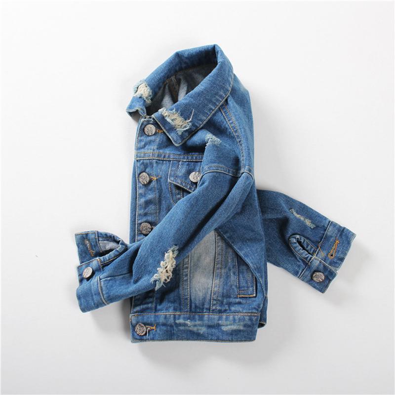 1 5yrs Baby Boys Girls Outerwear Coat Girls Hole Denim Jackets Coats