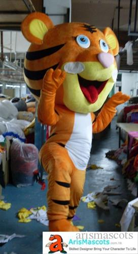 e9dabd5fb Adult Happy Lovely Tiger Mascot Costume Custom Made Mascots For Advertising  Team Mascot Custom Mascots Sport Deguisement Mascotte Football Mascot  Costumes ...