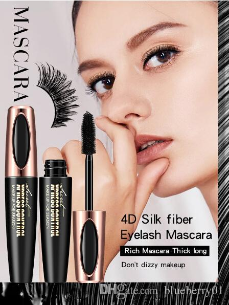c5550e24b19 4D Silk Fiber Lash Mascara Waterproof Mascara For Eyelash Extension Black  Thick Lengthening Eye Lashes Cosmetics Cosmetic Products Discount Cosmetics  From ...