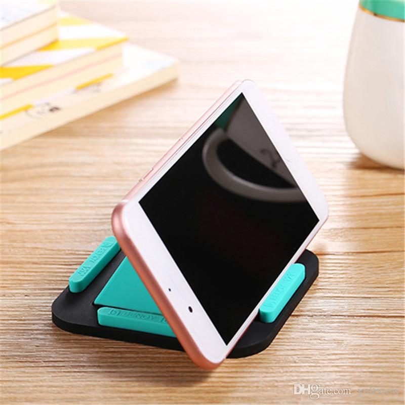 Pyramid Phone Holder Universal phone Desk Mount Stand Non-slip Silicone Pad iPhone Bracket for Car Navigation/ Desktop/ Office/ Home