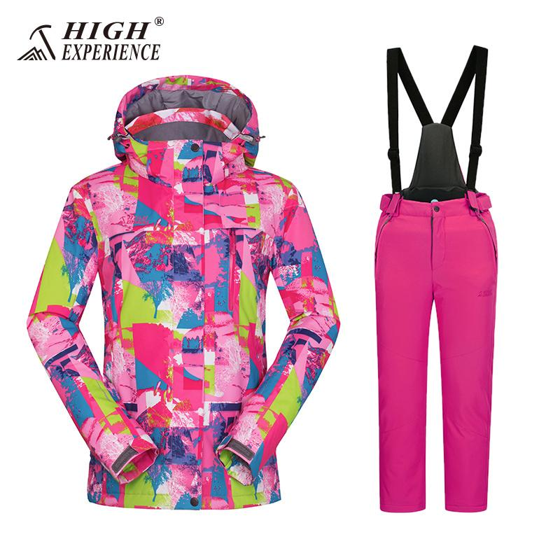 70e5b9b013 Girls Ski Suit Set Winter Children Kids Ski Jacket And Pants Sport With Detachable  Hooded Waterproof Snowboard Jacket Pants UK 2019 From Mtaiyang