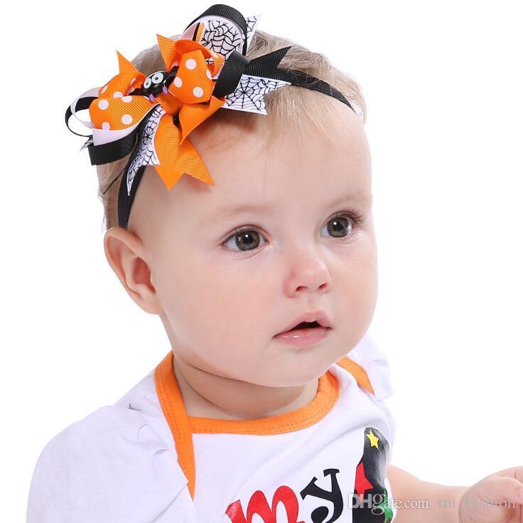 Großhandel Halloween Spinne Fledermaus Bogen Haar Band Stirnbänder ...