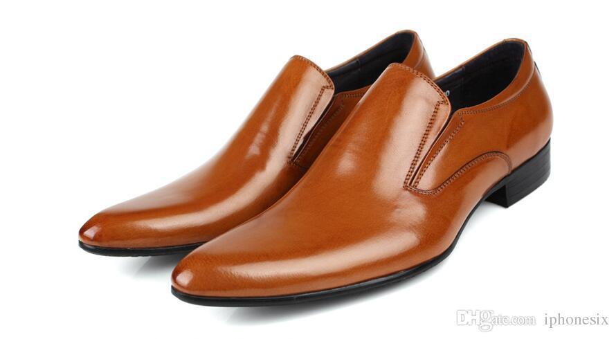 Erkek ayakkabı lüks hakiki deri düz iş resmi ayakkabı mens elbise brogues oxfords keşiş askısı ayakkabı