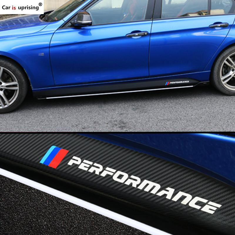 Car Styling Accessories M Performance Side Skirt Sticker Body Decals For F30 F34 F32 F10 3 Series 320 328 5 Series 520 528 M3 M5
