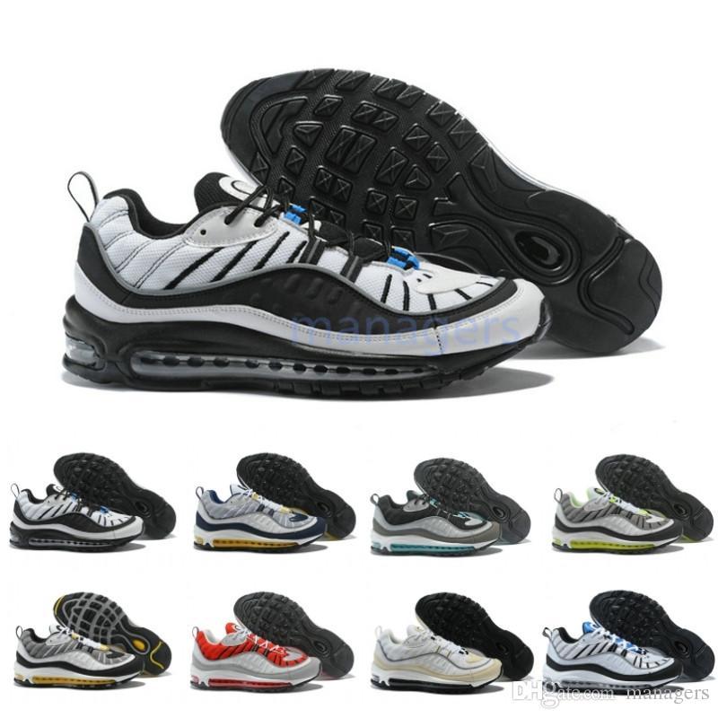 2019 nuevo 98 OG zapatillas para hombre Gundam Tour White 98 GS botas de aire para mujer de calidad superior barato 98s zapatillas de deporte tamaño