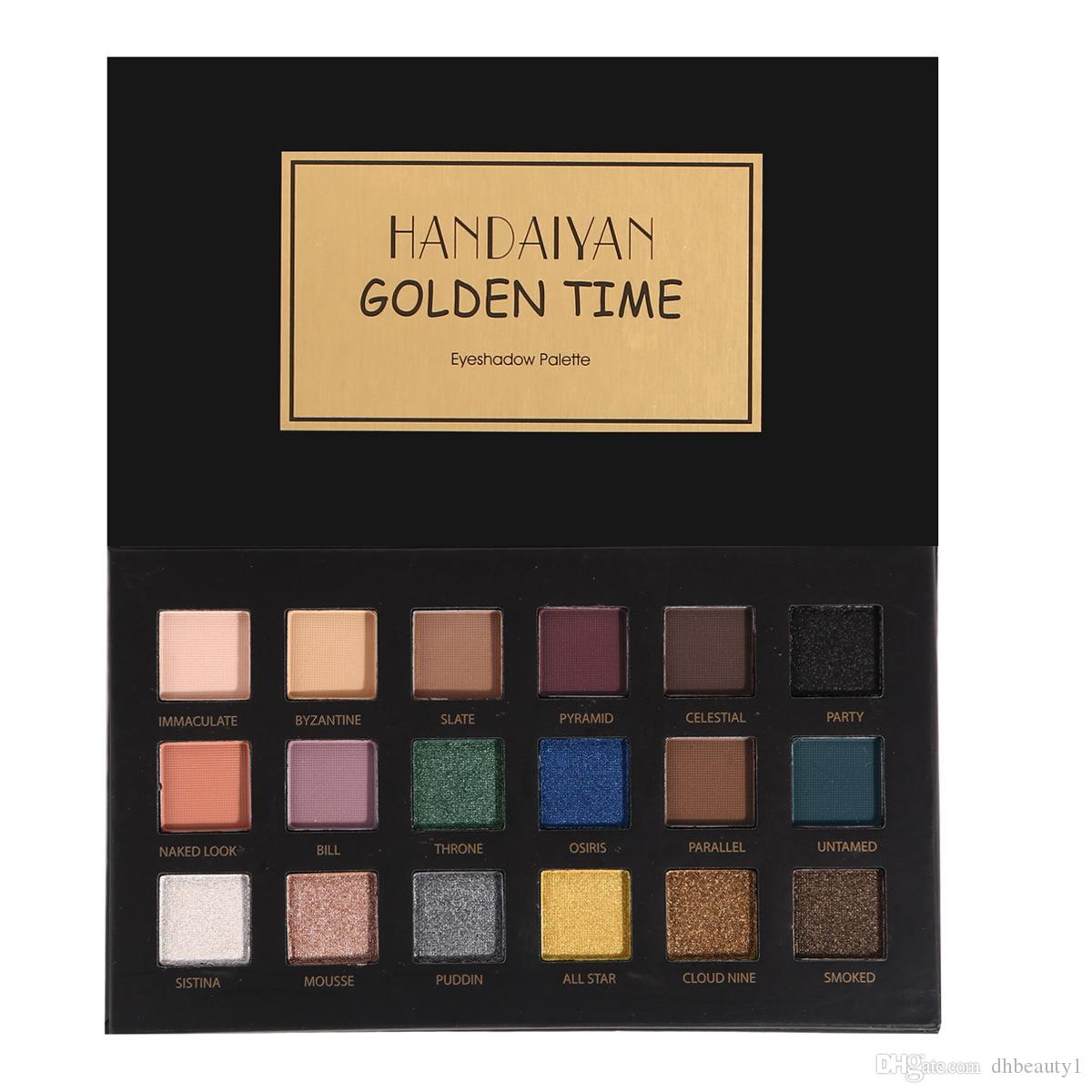 Top Qualidade HANDAIYAN Exotic Costumes Fosco Eyeshadow Palette 18 Cores Shimmer Sombra de Olho
