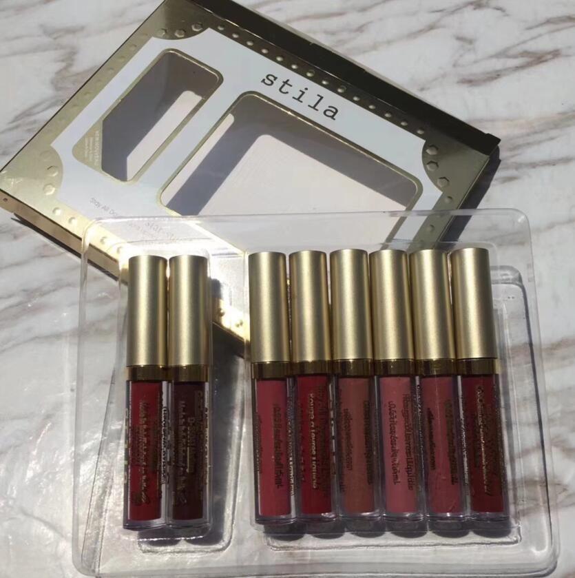Star-studded Eight Stay All Days Liquid Lipstick Brand Box Long Lasting Creamy Shimmer Liquid Lip Gloss Lipgloss DHL