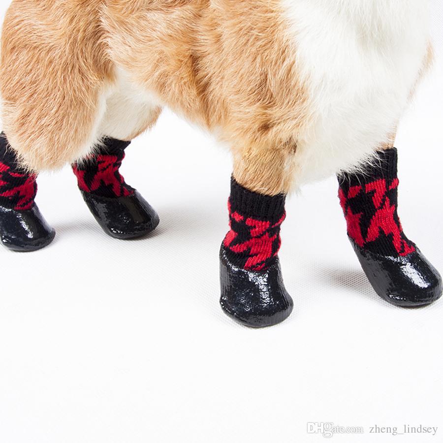 / set Outdoor Antiscivolo Impermeabile antiscivolo Calzini cani Stivaletti Scarpe Paw Protector For Small Large Dog