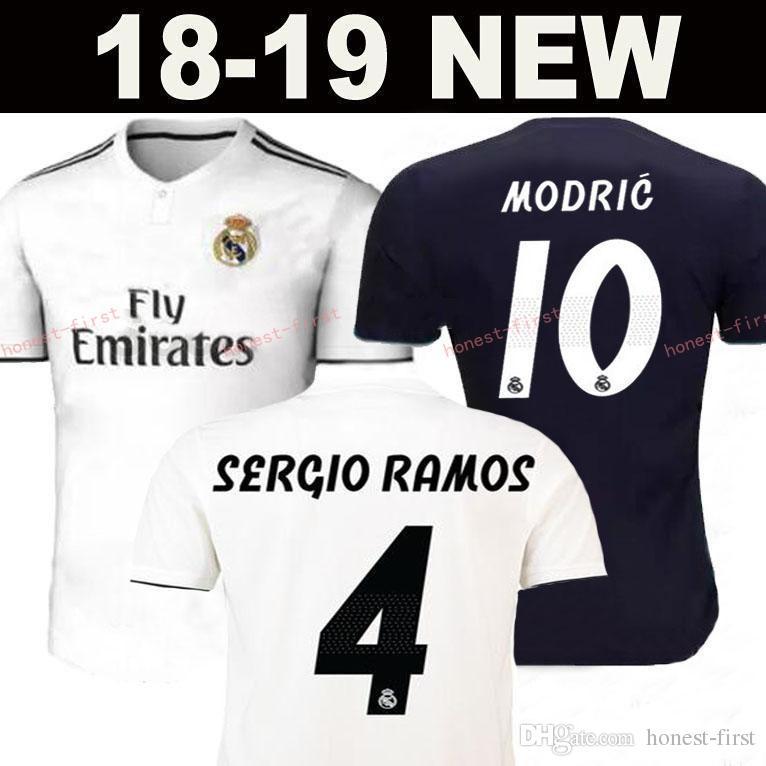 2019 2018 2019 Real Madrid Soccer Jersey 10 MODRIC RONALDO BALE ISCO ASENSIO  KROOS RAMOS VARANE MARCELO Custom Home Away 18 19 Football Shirt From  Honest ... fe2d98952