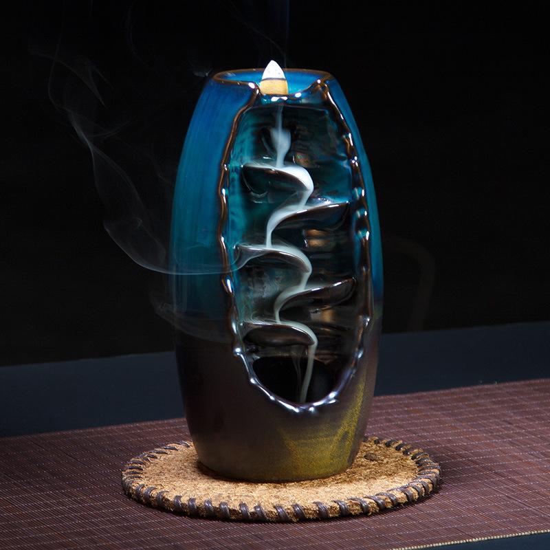 backflow incense burner  2019 Backflow Incense Burner Ceramic Incense Supplies Furnace Big ...