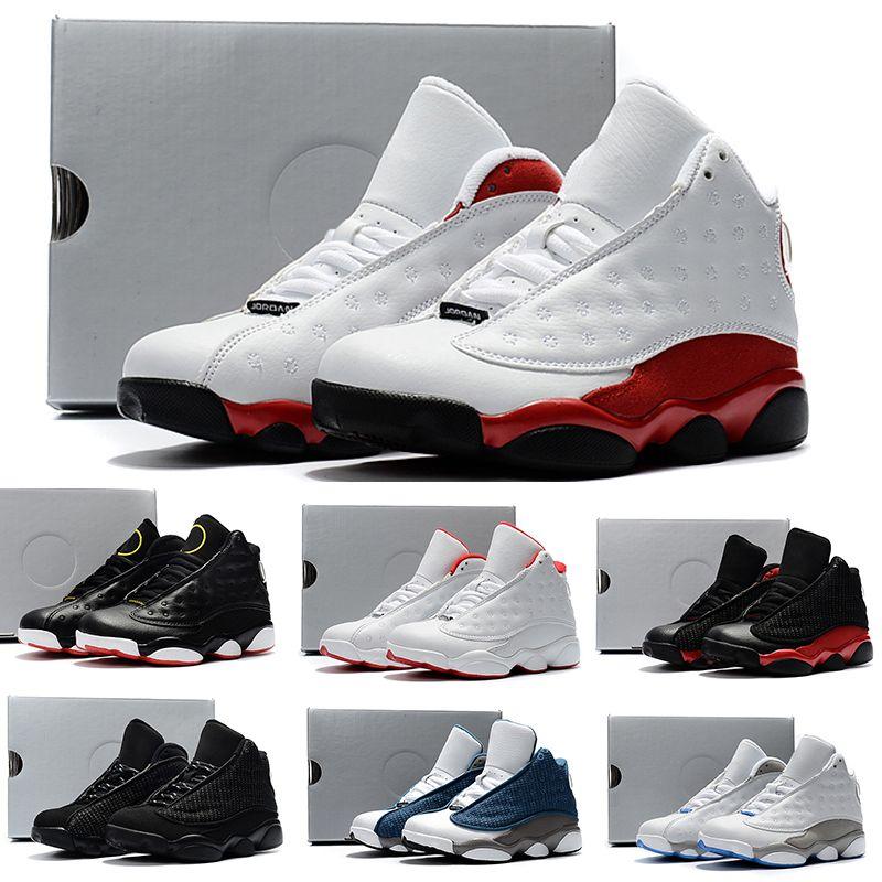 best service 35825 7c2cf Acheter Nike Air Jordan 13 Retro En Ligne 13 Enfants Basketball Chaussures  Enfants 13s Haute Qualité Chaussures De Sport Jeunesse Garçon Fille Basket  Ball ...