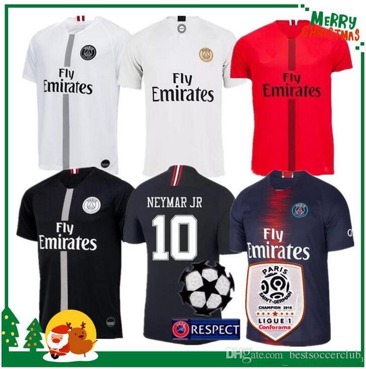 d96916794 2019 2018 2019 Paris Third Maillot MBAPPE Soccer Jersey CAVANI VERRATTI Top  Thailand 18 19 Paris Football Shirt KIMPEMBE Camiseta De Futbol From ...