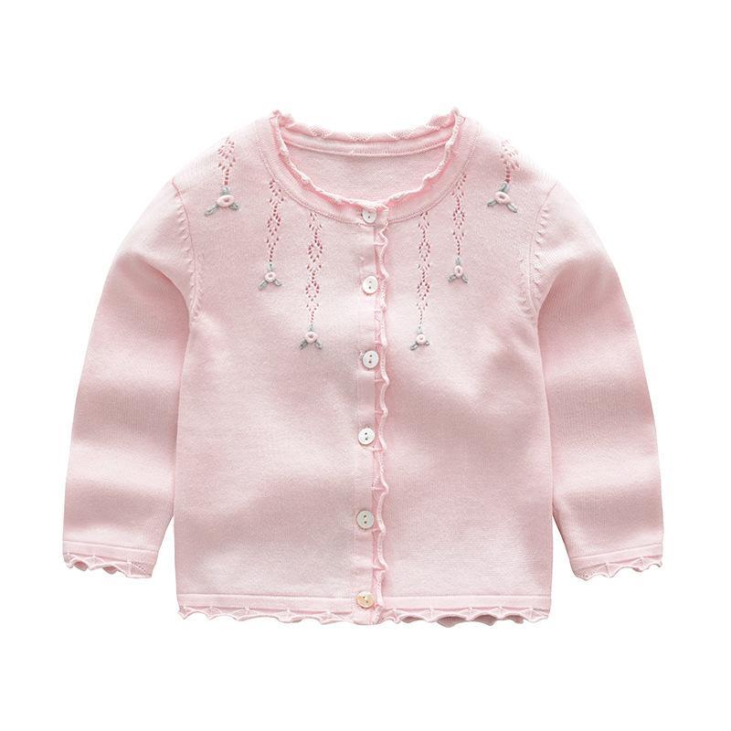 3c992a1f5 Baby Girls Cardigan Coat Children Sweater Pullover Spring Autumn ...
