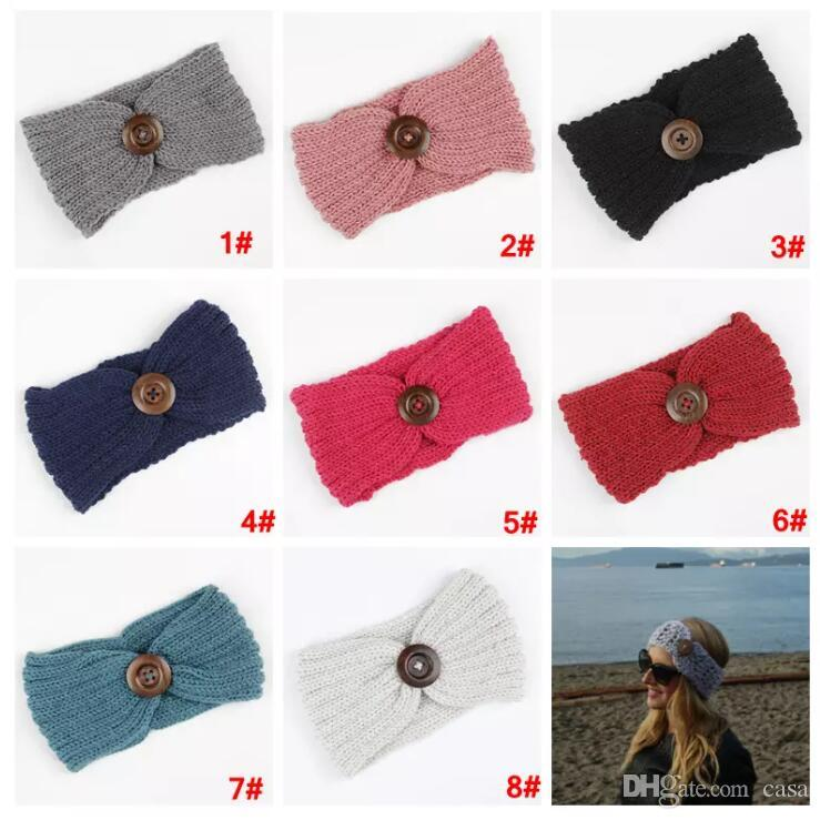 Großhandel Frauen Winter Schnalle Gestrickte Häkelarbeit Stirnband ...