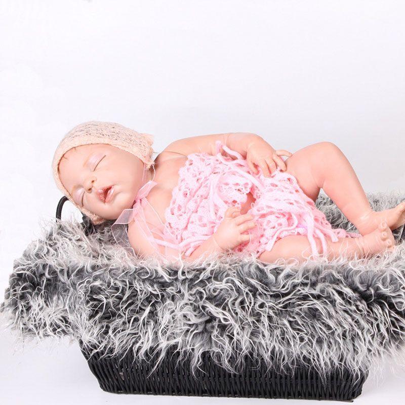 Colorful Newborn Baby Blanket New Cute Infant Kinderen Baby Photography Props Accessories Peuter Pasgeboren Harige Soft Comfortable Blanket
