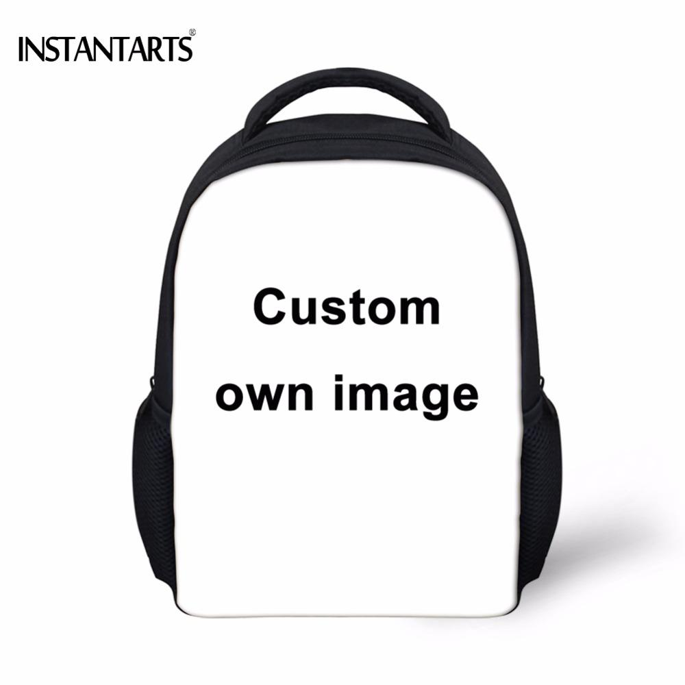 607dd306decb INSTANTARTS Custom Your Own Logo Design Photo Print Baby Boys Girls Mini  School Bags Kindergarten Student Backpacks Kids Satchel Backpacks For  College ...