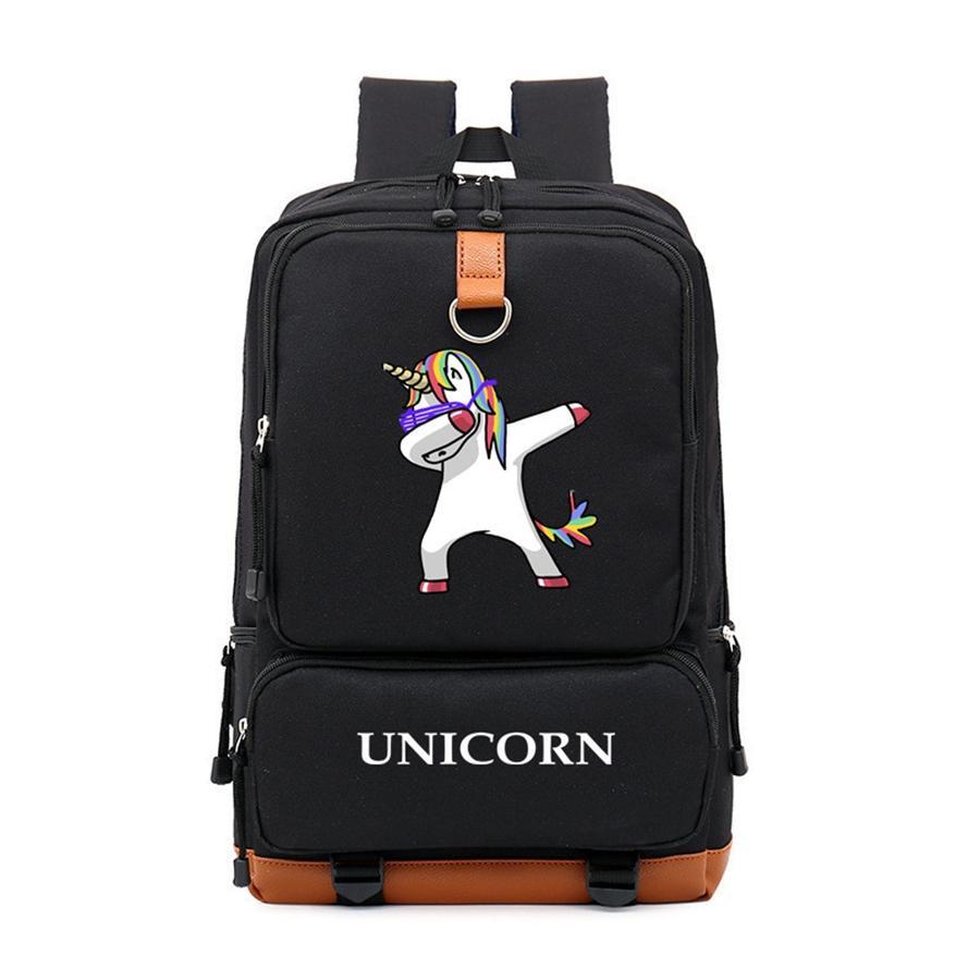 5946e249d841 Fashion Unicorn Bag for College Student School Bagpack Canvas ...