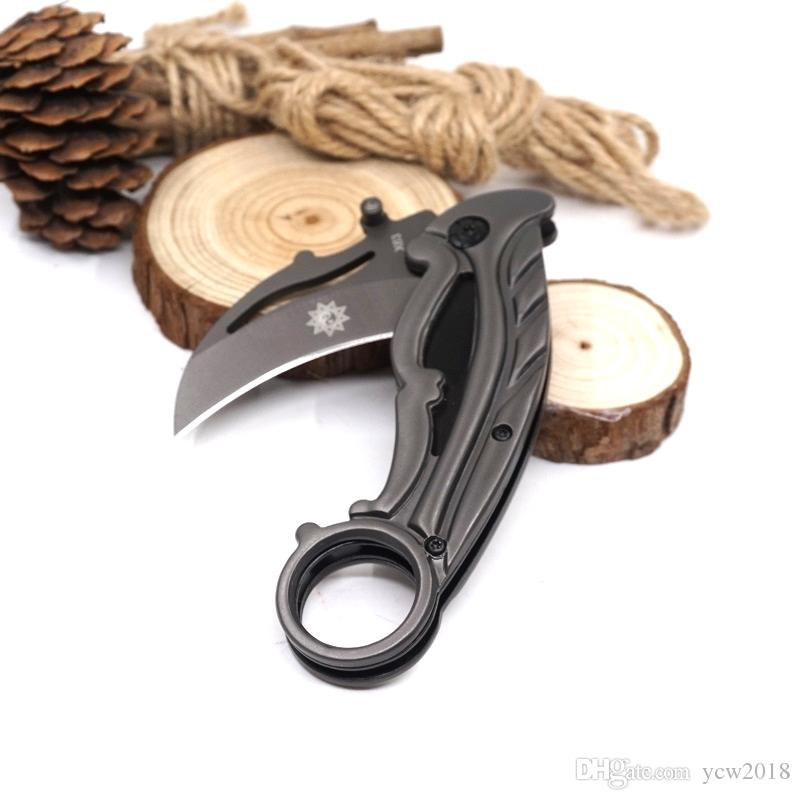 Best Karambit X63 Claw Knife Folding Training Hunting Knife Outdoor Survival Knife Hand Tools With Retail Box