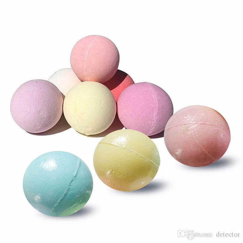 40g Random Color! Natural Bubble Bath Bomb Ball Essential Oil Handmade SPA Bath Salts Ball Fizzy Christmas Gift