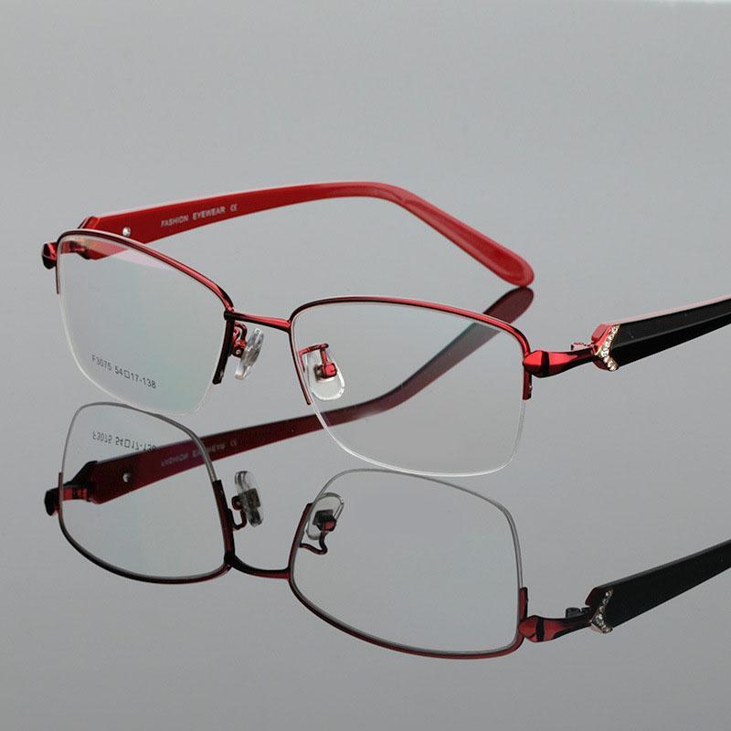 45c0510379 Compre Eoouooe Diamon Medio Diseño Mujeres Acetato Espectáculos Oculos  Miopía Lente De Lentes Hombre Gafas Ópticas Marco Glasse A $39.06 Del  Arrowhead ...