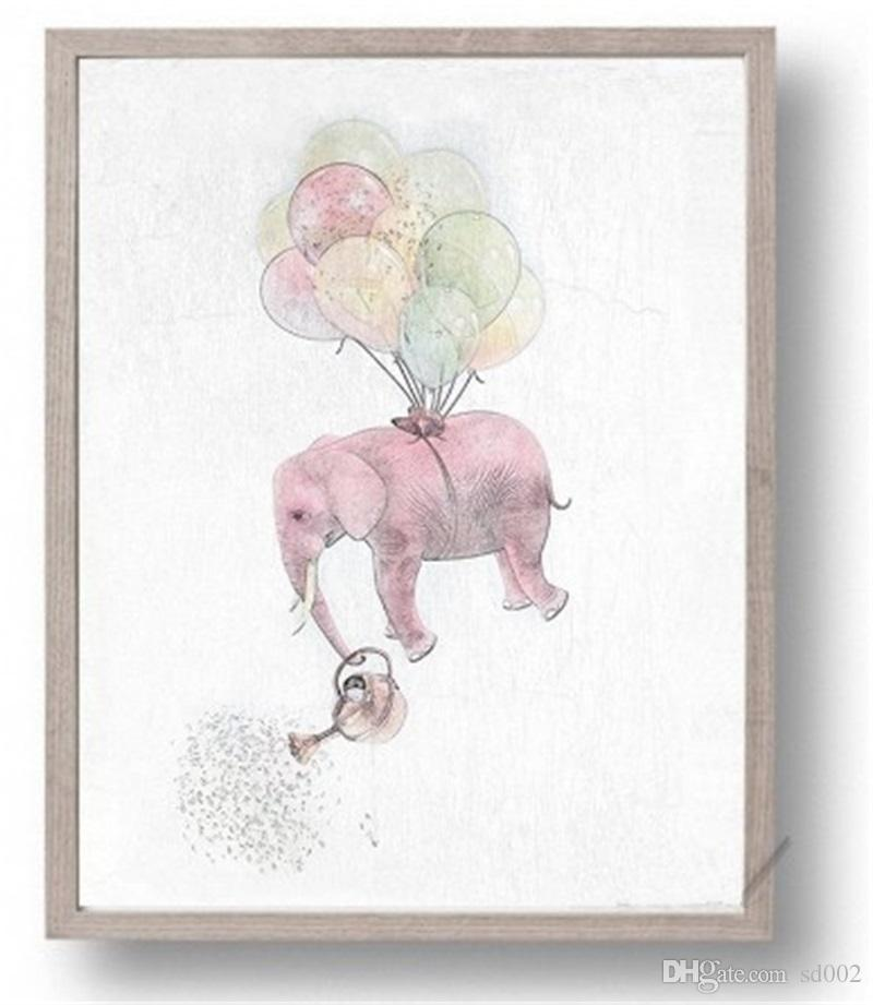 Abstract Elephant Home Wall Art Painting High Definition Family Decor Spray Paintings Printing Wall Pictures Poster No Frame 5jc gg