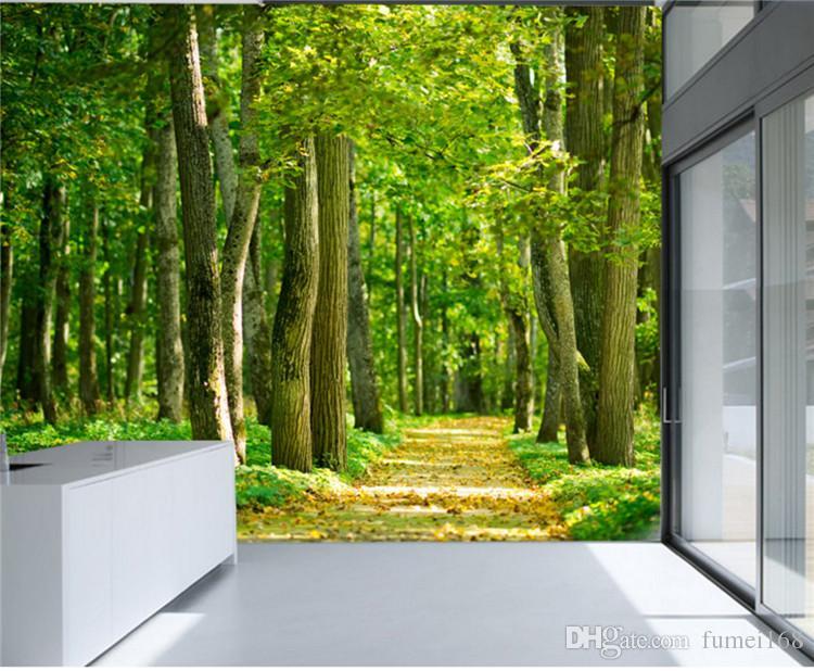 3D Foto Wandbild Tapete Wand Papier für Wohnzimmer Kinder Schlafzimmer Home Wand Dekorative Wallpaper Natur Landschaft Benutzerdefinierte Größe