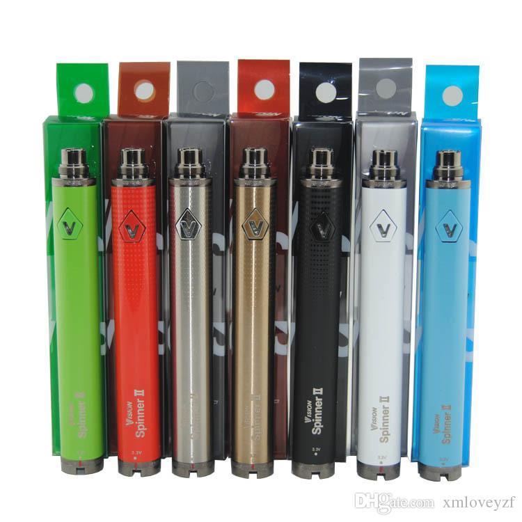 En Kaliteli Vizyon Spinner II 1600 mah Ayarlanabilir Gerilim eGo Büküm elektronik sigara Pil 3.3 ~ 4.8 V Spinner 2 DHL Ücretsiz Gönderi