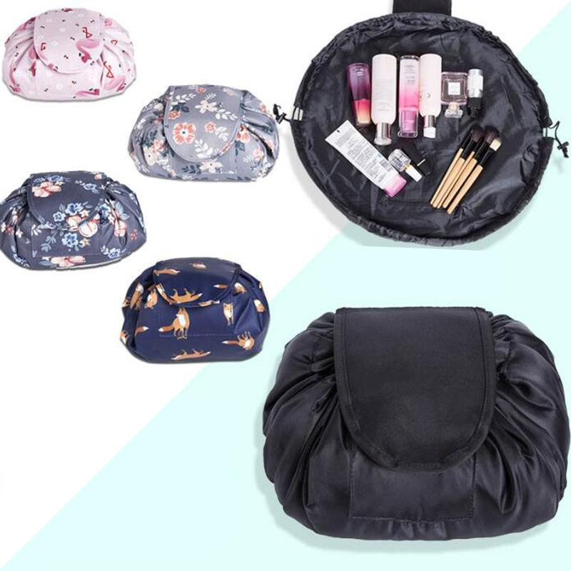 Beautiful Design vely lazy cosmetic bag Drawstring Wash Bag Makeup Organizer Storage Travel Portable Cosmetic Bag Pouch 56cm